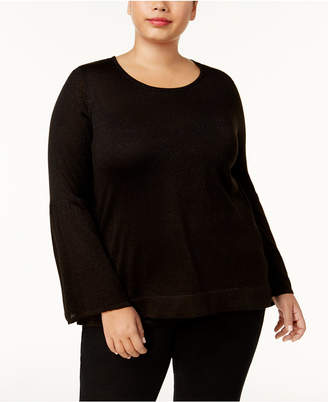 Calvin Klein Plus Size Bell-Sleeve Sweater
