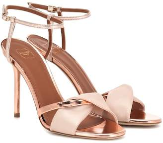 Malone Souliers Terry 100 satin and leather sandals