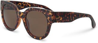 c33435dcd Oliver Bonas Preppy Round Tortoiseshell Sunglasses
