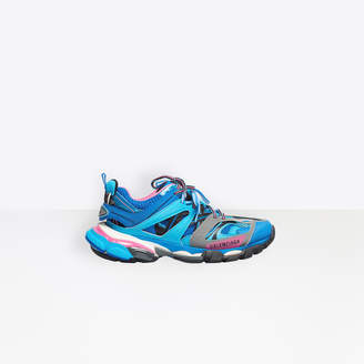 Balenciaga Track trainers in blue, pink and white mesh and nylon