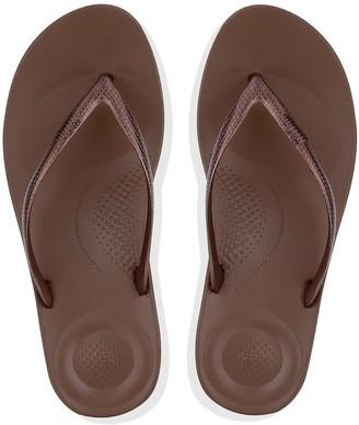 8e0ece04a7 FitFlop Iqushion Ergonomic Toe Thong Flip Flop Shoes - Bronze
