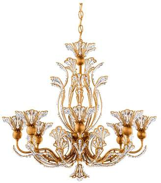 Schonbek Rivendell 8-Light Chandelier in Antique Silver With Clear Spectra Crystal
