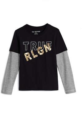 True Religion LONG SLEEVE FOIL TEE