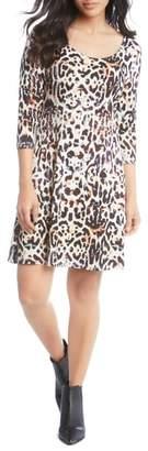 Karen Kane Leopard Print A-Line Dress