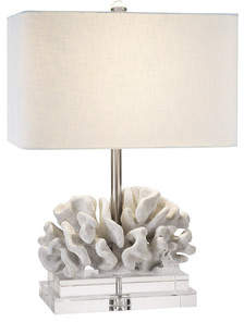 Couture Couture, Inc. Coastal Retreat Elkhorn Coral 22 Table Lamp