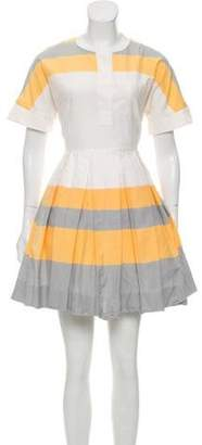 Jonathan Saunders Striped Mini Dress Yellow Striped Mini Dress
