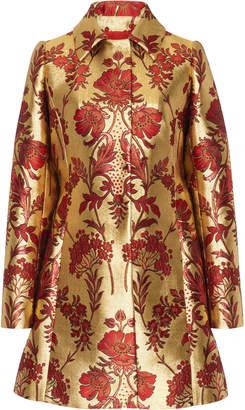 Dolce & Gabbana Floral Lurex Jacquard Coat