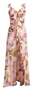 Botanical Garden Leah Silk Cover-Up Dress