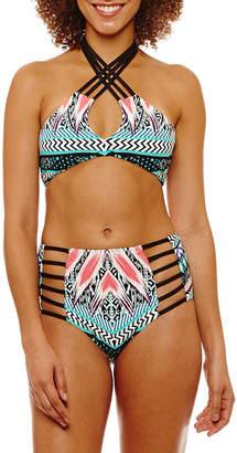 A.N.A Chevron Halter Swimsuit Top