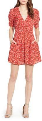 Speechless Ditsy Floral A-Line Minidress