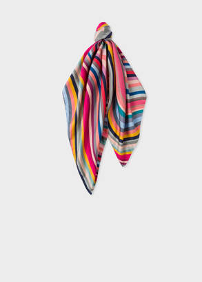 Paul Smith Women's Multi-Colour 'Swirl' Silk Square Scarf