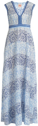 LE SIRENUSE, POSITANO Astrid Arabesque-print cotton-blend dress $309 thestylecure.com