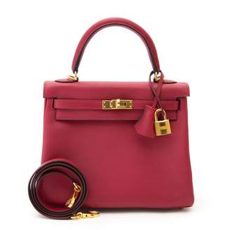 Hermes Kelly 25 leather crossbody bag