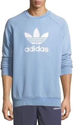 adidas Trefoil Warm-Up Sweatshirt, Light Blue