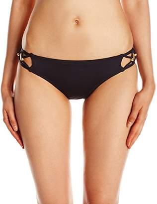 Trina Turk Women's Hipster Bikini Swimsuit Bottom, Black/Gold/Algiers, 6