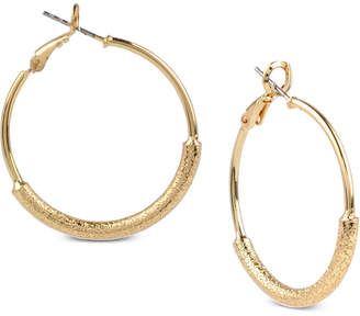 Charter Club Gold-Tone Wire-Wrapped Hoop Earrings, Created for Macy's