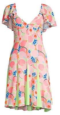 STAUD Women's Chiquita Printed Fit-&-Flare Dress - Size 0