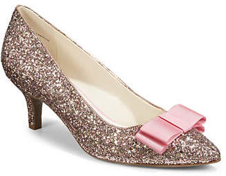 Anne Klein Embellished Bow Point Toe Pumps