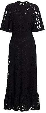 Valentino Women's Sangallo Flutter Sleeve Knit Dress