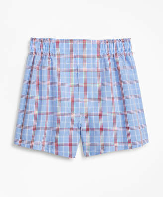 Brooks Brothers Boys Plaid Boxers