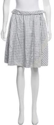 Louis Vuitton Gingham Print Knee-Length Skirt w/ Tags
