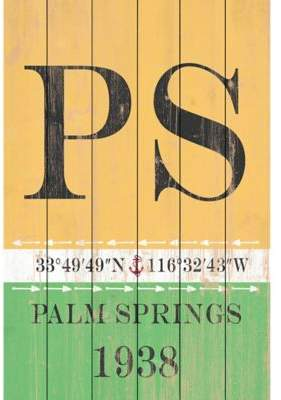 Marmont Hill Palm Springs 1938 12-Inch x 18-Inch Wood Wall Art