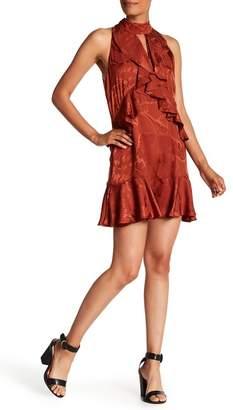Cinq à Sept Maxime Silk Jacquard Ruffle Dress