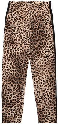 MonnaLisa Leopard Print Cotton Jersey Leggings
