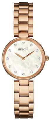 Bulova Women's Quartz Diamond Bracelet Watch, 27mm - 0.06 ctw