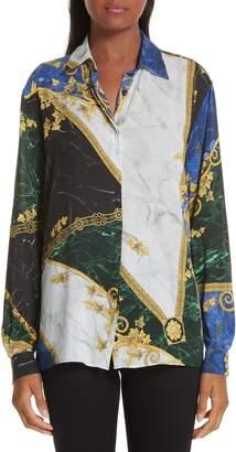 Versace Marble Print Blouse