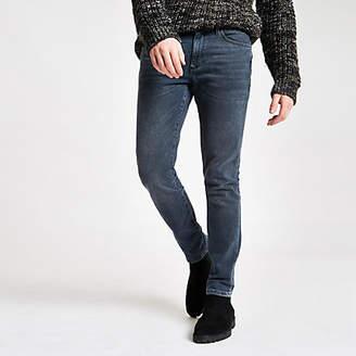 Mens Dark Blue Sid skinny stretch jeans
