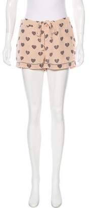 Equipment Mid-Rise Mini Silk Shorts
