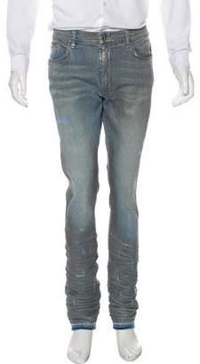 Amiri Metallic Distressed Skinny Jeans w/ Tags