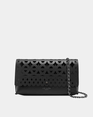 Ted Baker SALLIA Cut out detail leather clutch