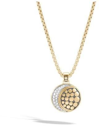 John Hardy Moon Phase Pendant Necklace With Diamonds