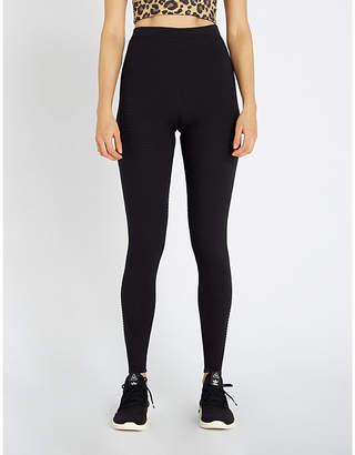 cf9cc01dd6e1c Adam Selman Ribbed-knit nylon leggings