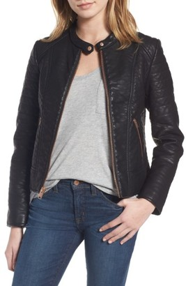 Women's Andrew Marc Blakely Faux Leather Jacket $128 thestylecure.com