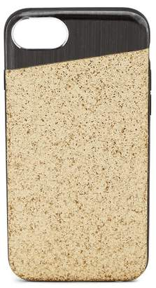 Nanette Lepore Angled Black/Gold Glitter iPhone 6/6S/7/8 Case