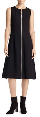 Lafayette 148 New York Celinda Zip Front Wool Dress