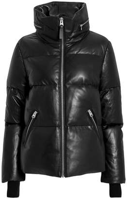 Mackage Leather Puffer Jacket