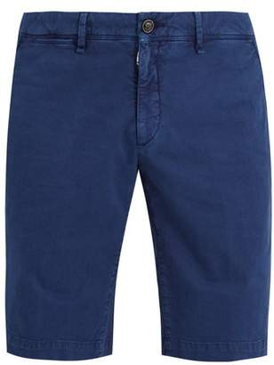 Moncler Cotton Gabardine Shorts - Mens - Navy