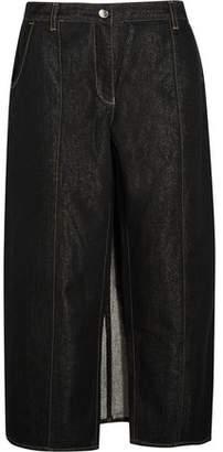 Kéji Mid-Rise Metallic-Flecked Wide-Leg Jeans