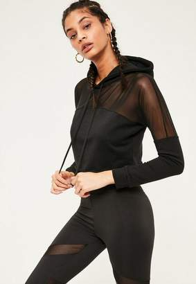 Missguided Active Mesh Panel Hoodie