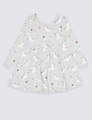 Marks and Spencer Unicorn Print Dress (3 Months - 7 Years)