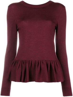 Chloé ruched peplum long sleeve jumper