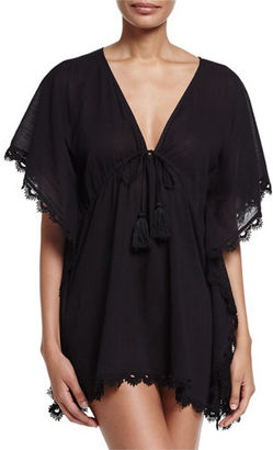 Seafolly Crochet-Trim Caftan Coverup $92 thestylecure.com