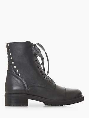 Steve Madden Irofi Lace Up Ankle Boots, Black Leather