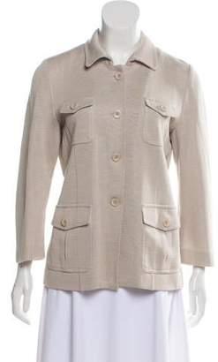 Amina Rubinacci Linen-Blend Casual Jacket