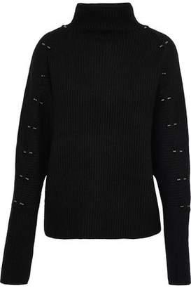 Elie Tahari Easton Embellished Wool And Cashmere-Blend Turtleneck Sweater