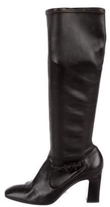 Giorgio Armani Leather Knee-High Boots
